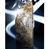 New Metallic Look Hard Case Cover For Apple Iphone 6 With Gift Box