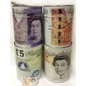Sterling Mega Money Box Tin Saving Cash Piggy Bank