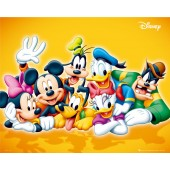 Mickey Mouse Group Yellow Picture Frame