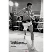 Mohammed Ali Training Picture Frame Poster