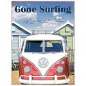 VW Gone Surfing Vintage Metal Plate