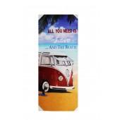 VW Camper Van And Beach Canvas