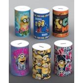 Pixar Minions Money Box Tin Saving Cash Piggy Bank Pot Gift