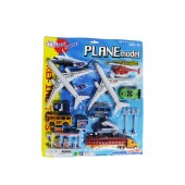 Twin Jumbo Plane Carded Play set