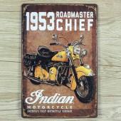 1953 Roadmaster Chief Vintage Metal Plate