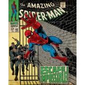Marvel Comic Spiderman Escape Impossible On Wooden Board