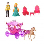 Prince And Princess With Carriage Role Play Toy Set