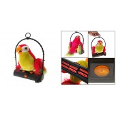 Animated Talk Back Talking Toy Parrot on Perch