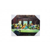 Beautiful Large The Last Supper Canvas With LED Light