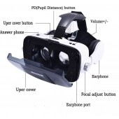 VR BOSS Virtual Reality 3D Glasses With Earphones