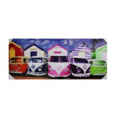 Beach Hut VW Camper Van Canvas