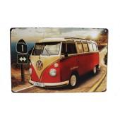VW Cali 1 Vintage Metal Plate
