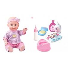 Baellar Baby Doll, Nursery Play Set Toy With Nappy, Bottle & Bowl