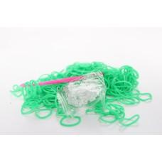 Loom Band Bracelets Refill Pack - Plain Green 600